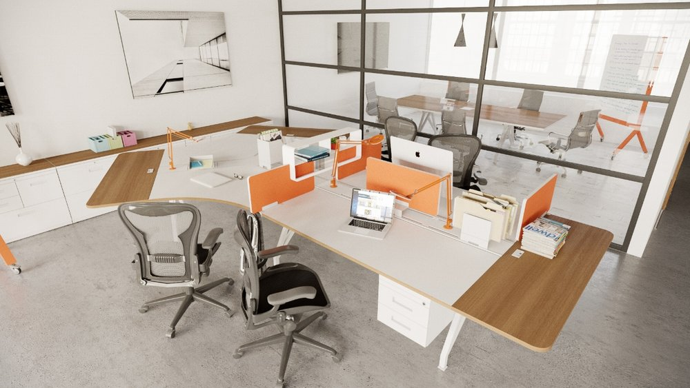 EYHOV Hub Case Study Desk Workstations