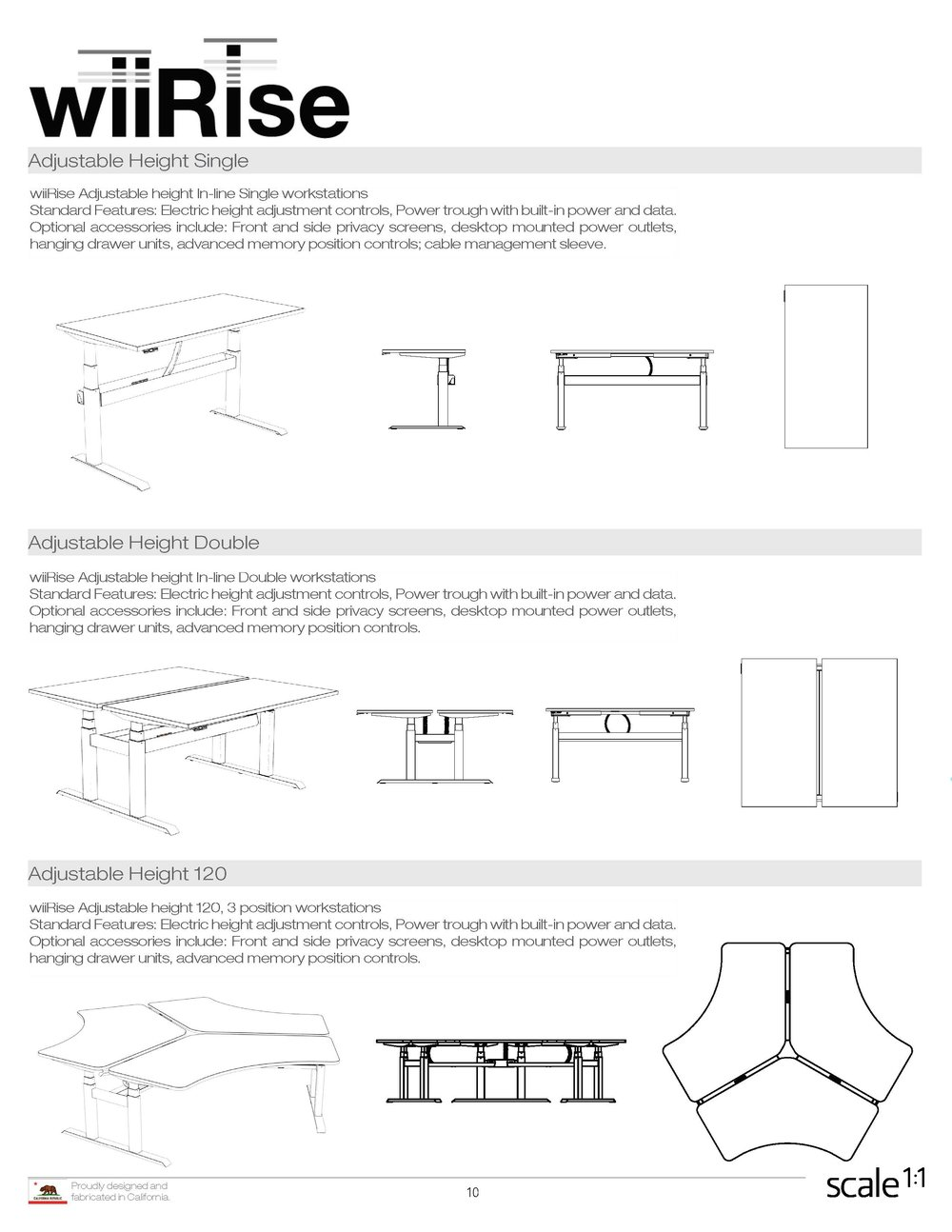 wiiRise Height Adjustable Desks Documentation