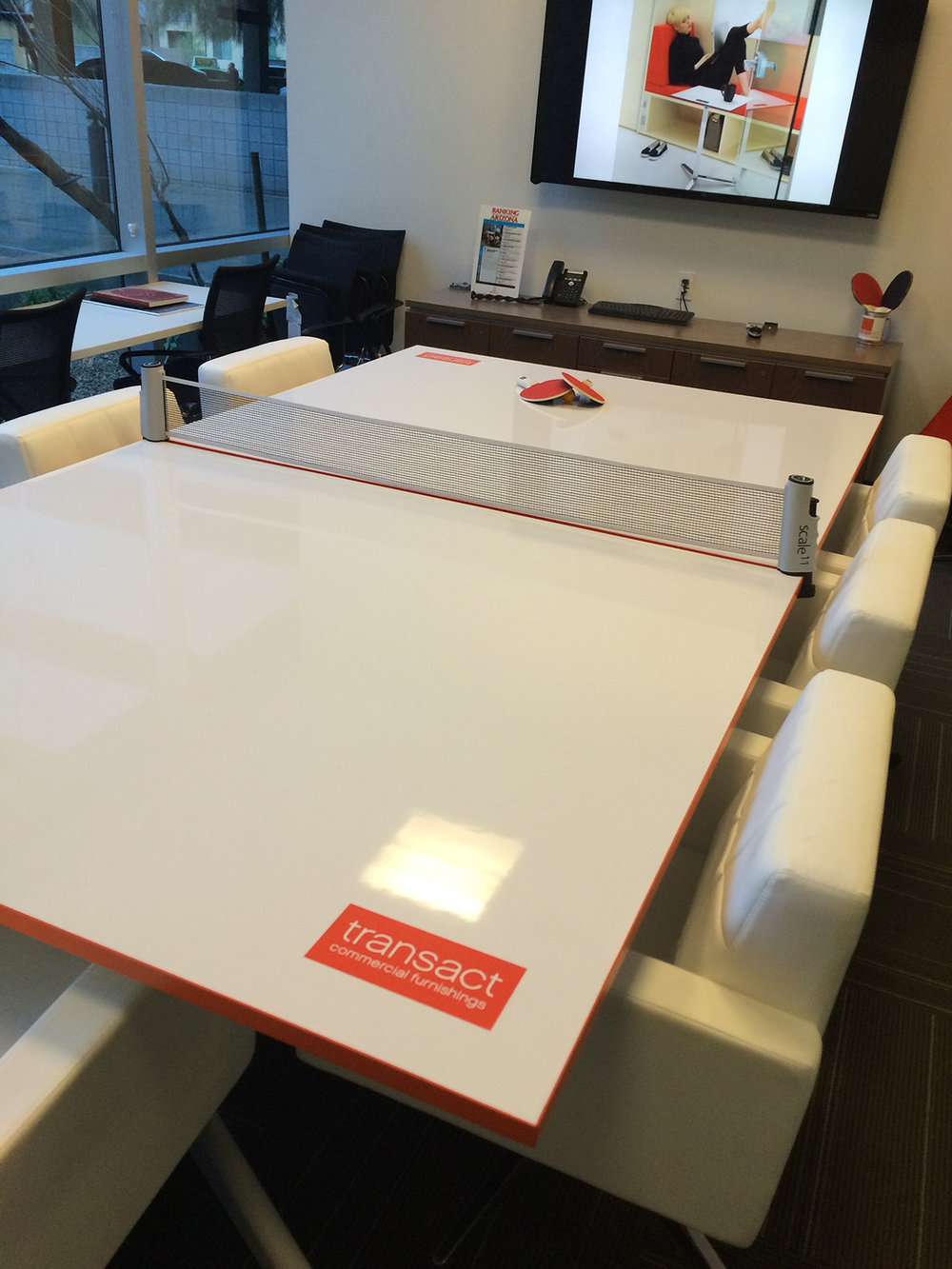 NOMAD Sport Folding Conference Mobile White Board Ping Pong Table