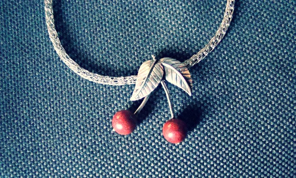 Silberkette mit Korallen - Erhältlich auf dem Kirschfest #2014