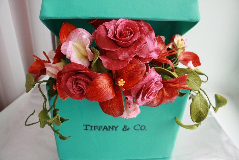Торт коробка Tiffany&Co