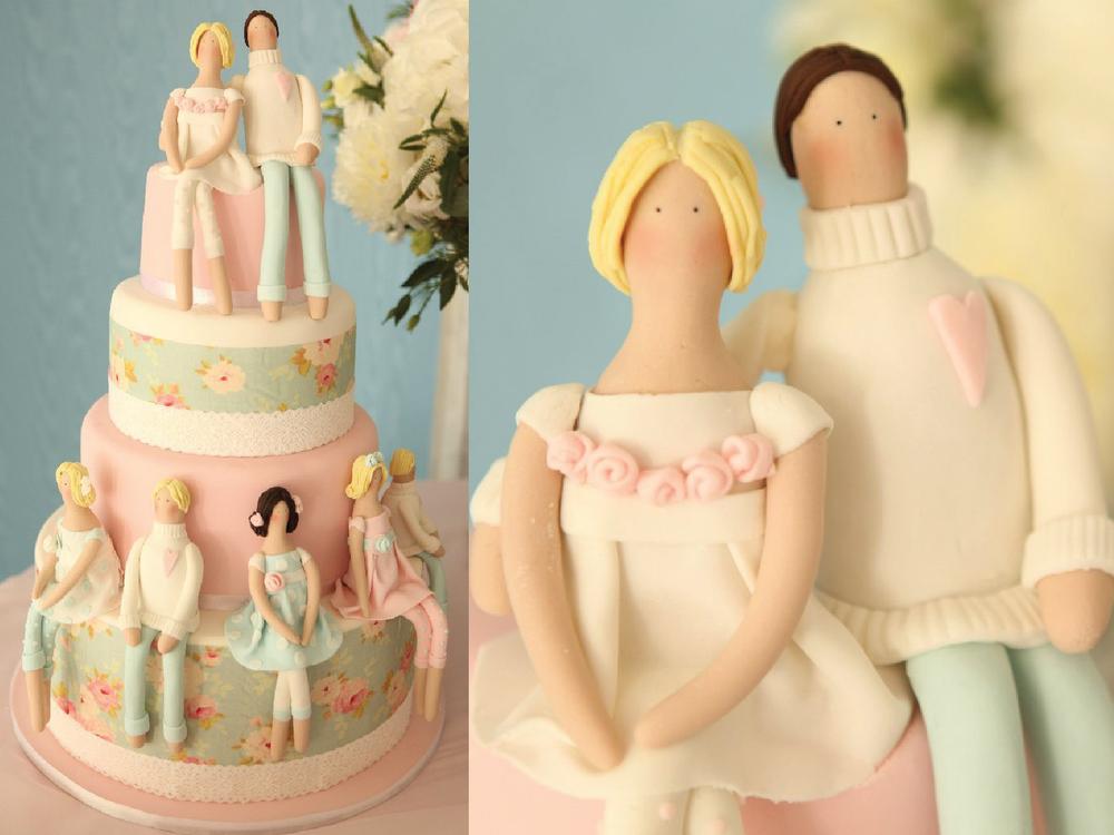 Торт с куклами Тильда