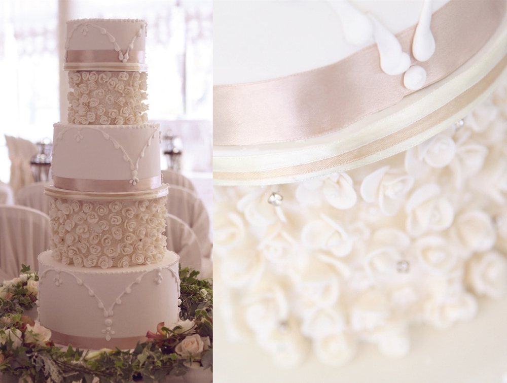 Торт цвета айвори