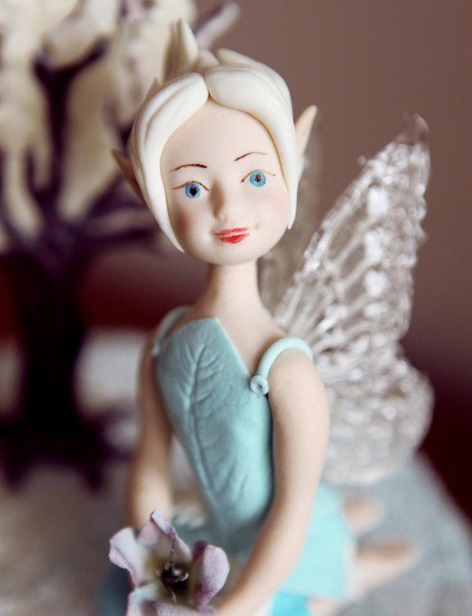 Фея Незабудка - съедобная фиргурка на торт