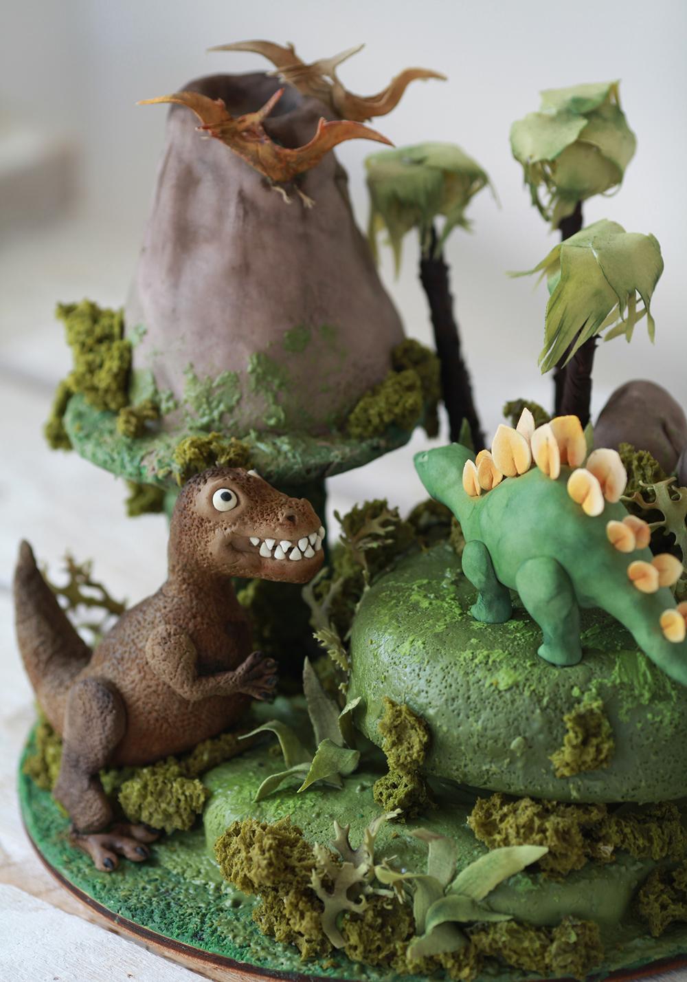 Заказной торт на день рождения Парк Юрского периода