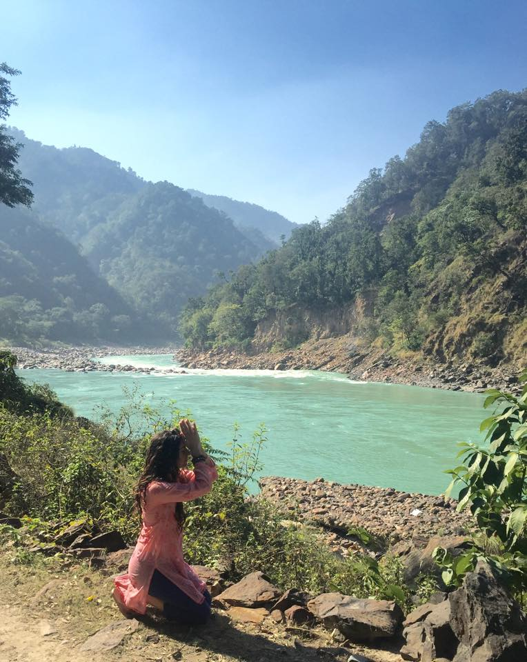 At the Ganga River. North Rishikesh, India.