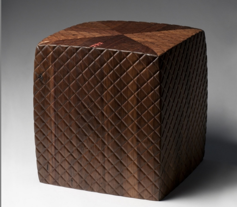 walnut quilted cube