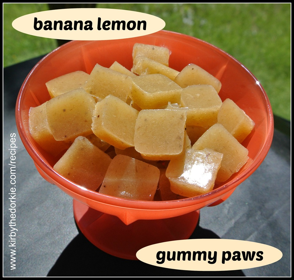 Banana Lemon Gummy Paws