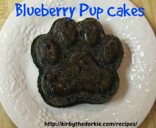 Blueberry Pup cakes