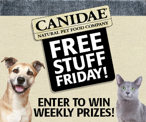 Click to Like CANIDAE Pet Foods on Facebook for a chance to win weekly prizes every Friday!