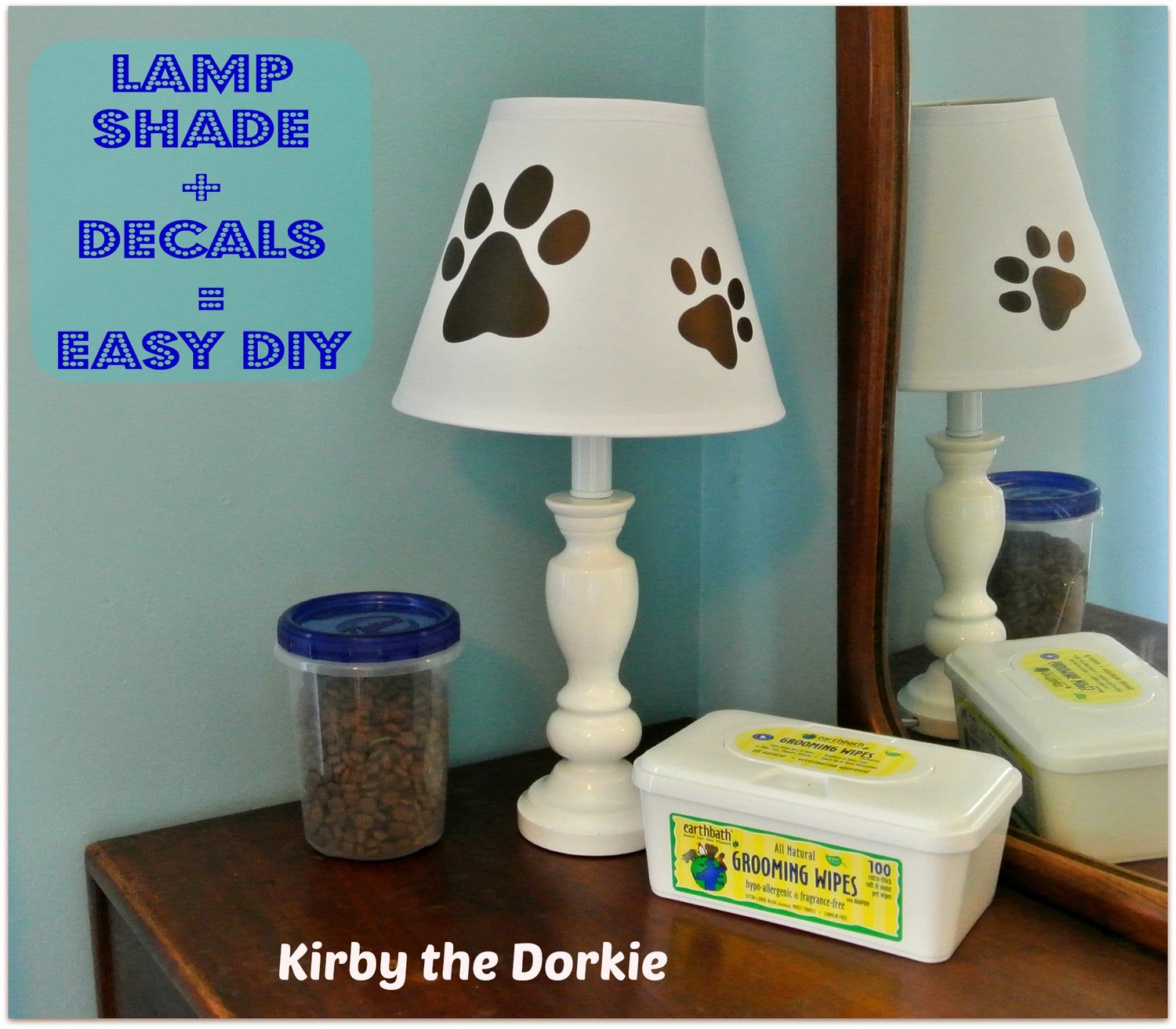 Lamp Shade Decals Easy Diy The Canine Chef Cookbook