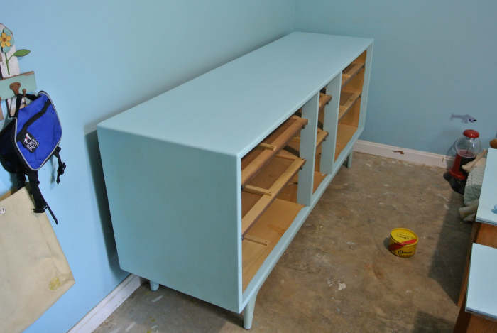 dresser re-painted with chalk paint