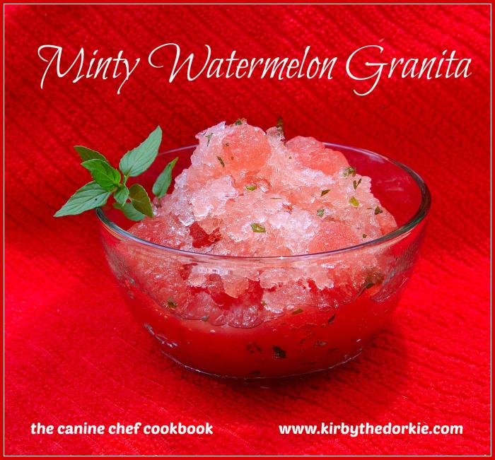 Minty Watermelon Granita — The Canine Chef Cookbook