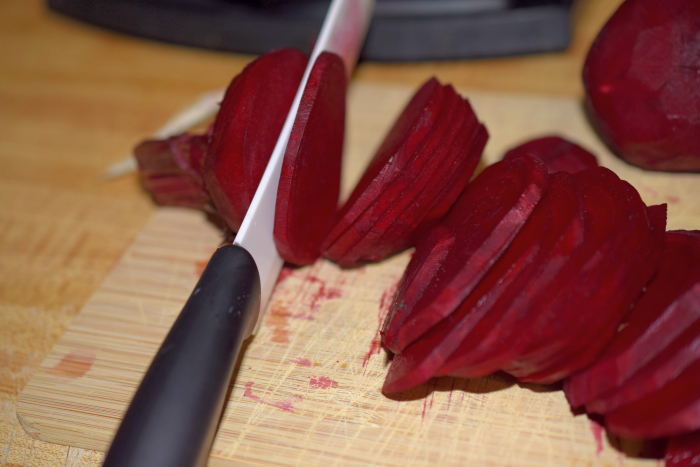 Red Beetroots sliced