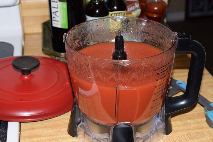 tomato paste and water