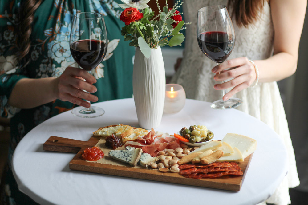 Aventura Private Dining Cheeseboard and Wine