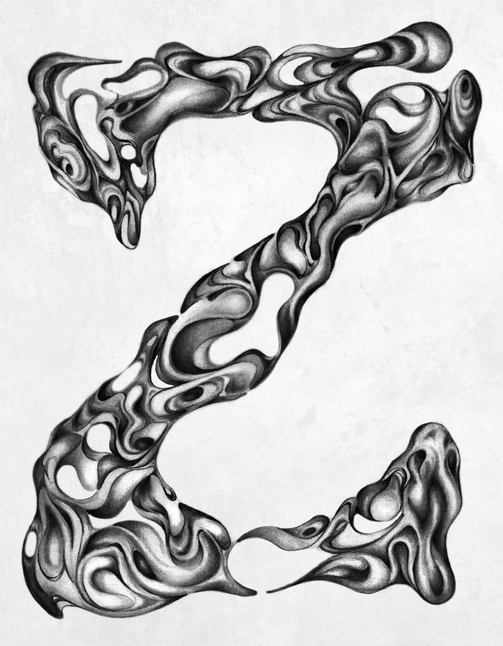 Adrianna+Grezak+drawing+typography+letter+z