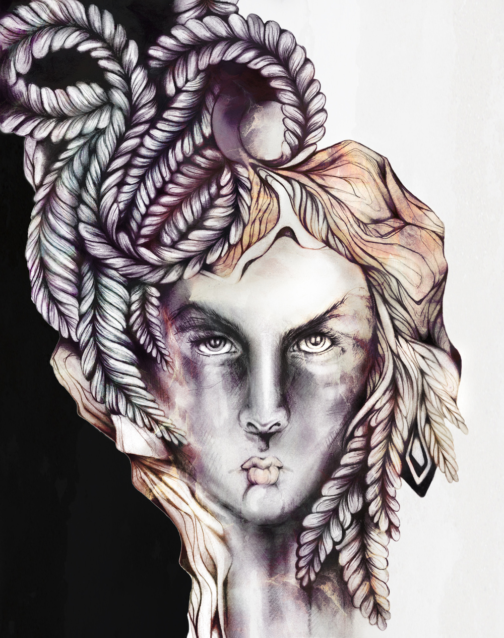 Adrianna+Grezak+girl+illustration+surreal+drawing