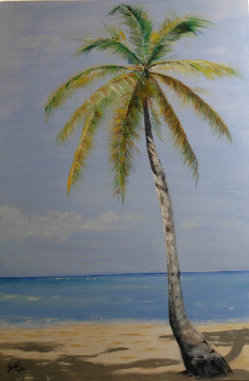 "Coconut Palm-Acrylic on Canvas-24 X 36""- 2012      Property of Jeremy Smith"