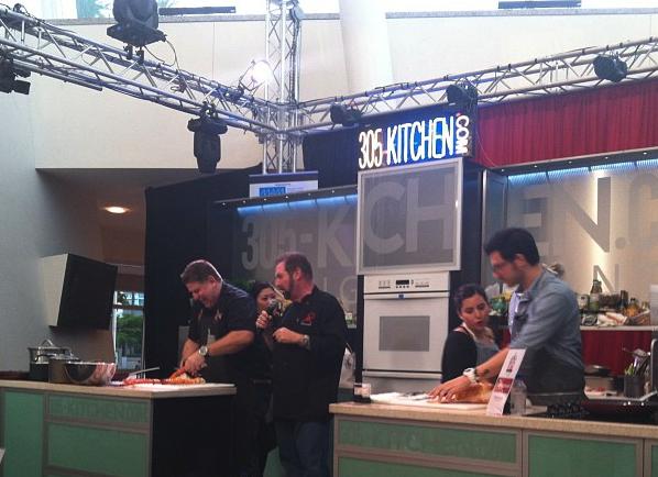 Chef Jamie DeRosa (L) & Chef Giorgio Rapicavoli (R) with sous chefs in tow.