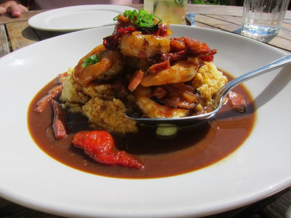 Shrimp n' Grits - Florida shrimp, crisp Virginia ham, Adluh South Carolina stone ground grits