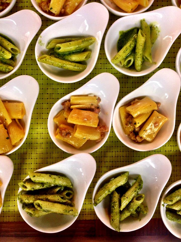 Rigatoni pasta with fennel sausage or basil pesto penne pasta | Credit: Google+