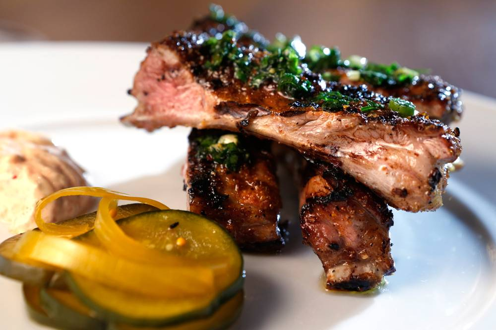 Foodable WebTV Network | Photo Credit: Leila Navidi//Las Vegas Weekly | Pictured: Grilled lamb ribs at Heritage Steak