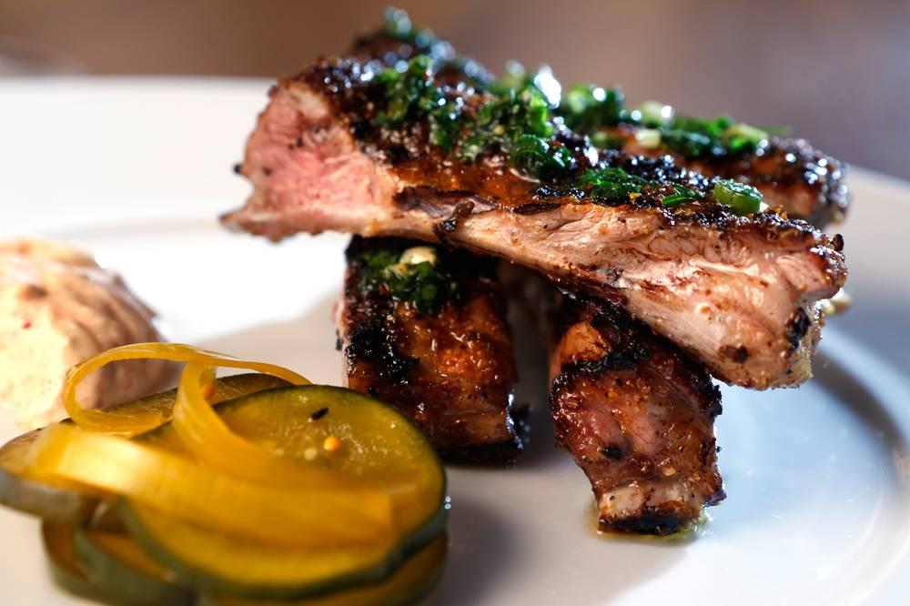 Foodable WebTV Network | Photo Credit: Leila Navidi//Las Vegas Weekly | Pictured: Grilled lamb ribs at Heritage Steak