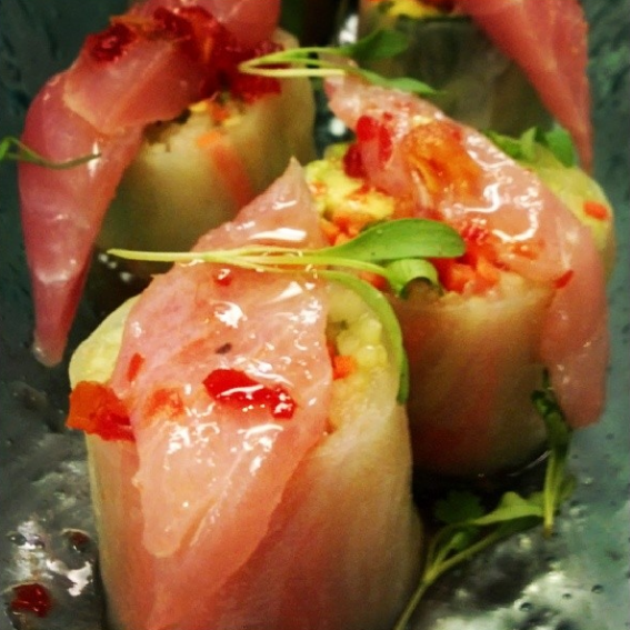 Yellowtail Jack Spring Rolls | Photo Credit: Instagram