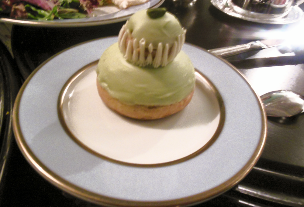 Pistachio Puff Pastry at Ladurée Tea Salon | Foodable WebTV Network