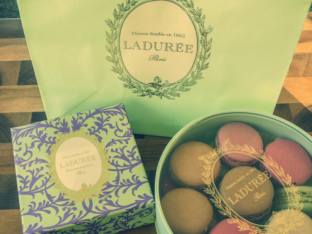 Goodie Bag from Ladurée Tea Salon | Foodable WebTV Network