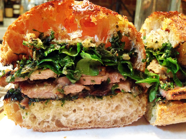 Porchetta Sandwich from  Il Buco Alimentari e Vineria   | Photo Credit: Amateur Gourmet