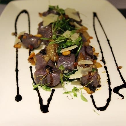 Purple Sweet Potato Gnocchi from Pulehu  | Photo Credit: Carolyn Jung/Facebook