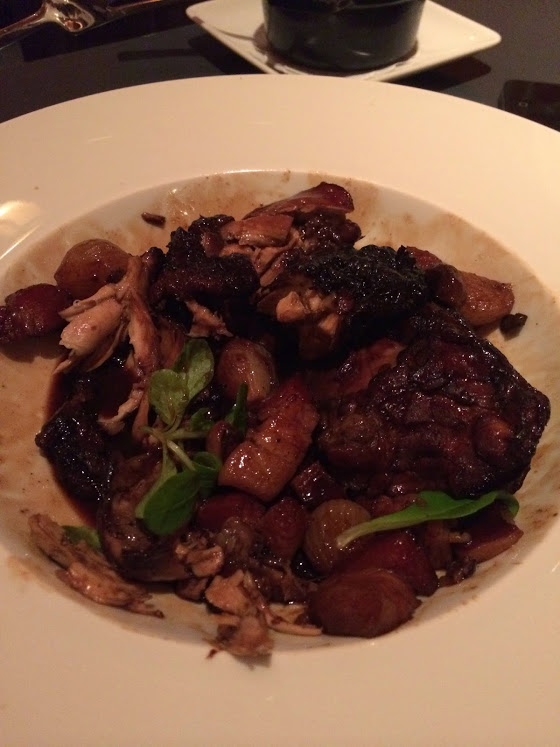 Coq Au Vin — Pearl Onions, Bacon, Spatzle, Mixed Mushrooms