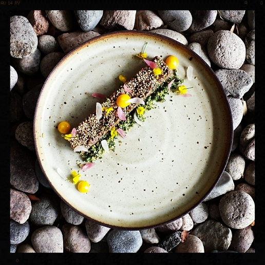 Hanger Steak Tartare, Turnip Gremolata, Benne Seed, Egg Yolk | Photo Credit: Instagram