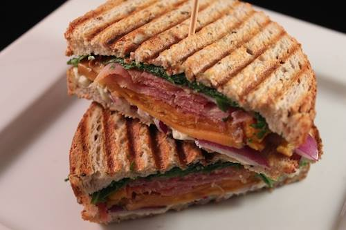 Sweet Potato + Prosciutto Panini with Arugula + Gorgonzola | Credit: Facebook