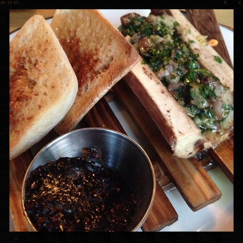 Chopped Bone Marrow with Bacon Jam  |Credit: Instagram, b.randie