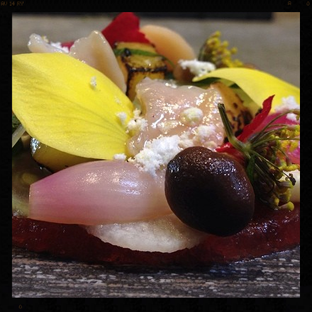 Clams by Kelvin: Watermelon, Peaches, Corn, Jicama, and Pickled Mushrooms & Fennel  | Facebook, Journeyman