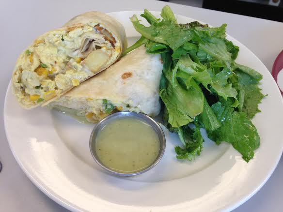 Breakfast Burrito at Dime Store  | Foodable WebTV Network