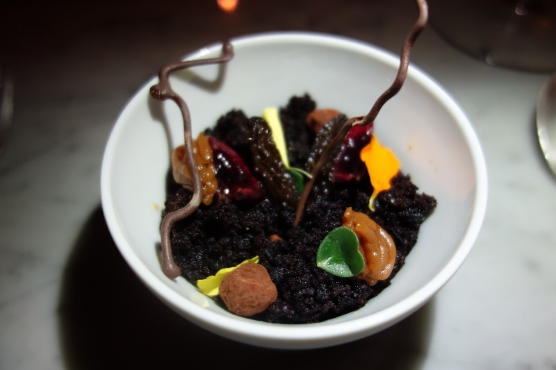 Black Forest Floor with dark cherry, chocolate, and hazelnut at Maude | FOODABLE WEBTV NETWORK