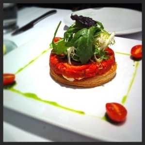 Tomato Tart at DB Bistro Moderne  | CREDIT: YELP, Joe S.