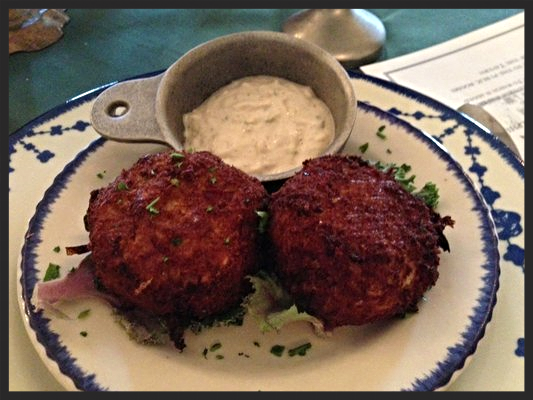 Crab Cakes at City Tavern | YELP, Dianah M.