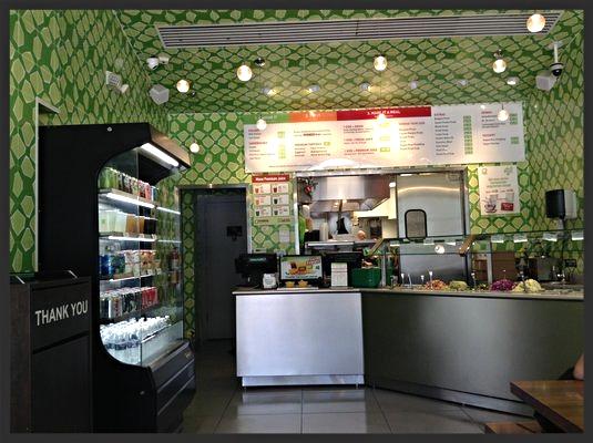 Interior of Maoz Vegetarian | YELP, Julie R.