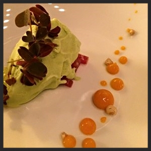 Asparagus gelato with tuna at 42 grams | YELP, Ronald Noah K.