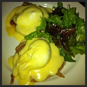 Eggs Benedict at Chez Billy  | YELP, Tushara E.