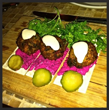Spinach falafel at Oleana Restaurant | YELP, Swatee G.