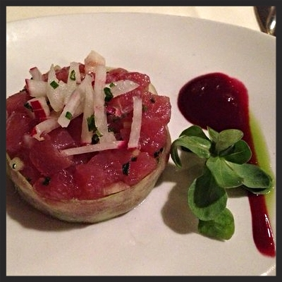 Mahi tuna tartar at Bibou  | YELP, Juliana K.