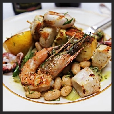 Seafood grill at Little Nonna's  | YELP, Michelle L.