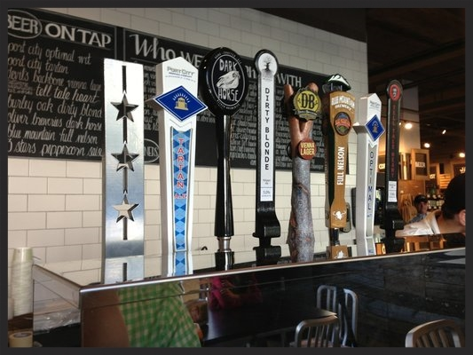 Beer on tap at Glen's Garden Market  | YELP, Meredith W.