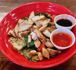 Zara rice bowl at Southpaw's Organic Grill | YELP, William W.